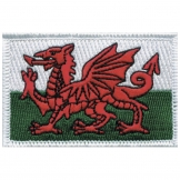 Wales Iron on Badge