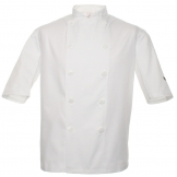 Budget short sleeve chef's jacket
