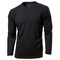 Tagless crew neck long sleeve sports