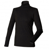 Women's long sleeved roll neck top