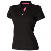 Women's contrast 65/35 polo