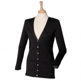 Women's v-button cardigan