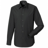 Long sleeve polycotton Easycare fitted poplin shirt