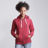 Women's zip-through superstar hoodie