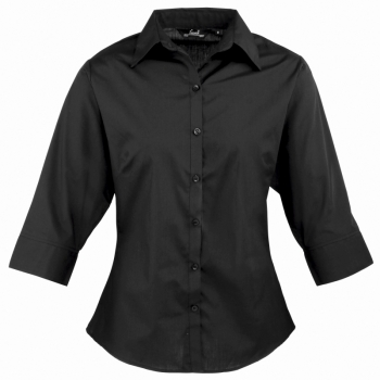 Women's 3/4 sleeve poplin blouse