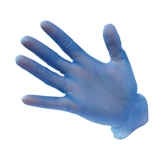 Powdered Nylon disposable glove