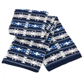 Fair Isle double layer jacquard scarf