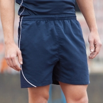 Lined performance sports shorts