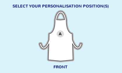 Logo position guide for an apron