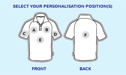 Logo position guide for polo shirts