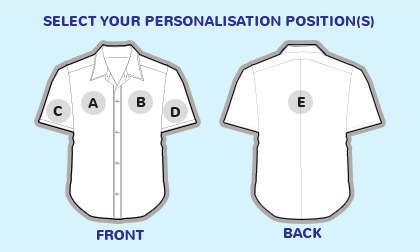 Logo position guide for shirts and blouses